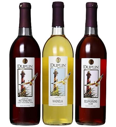 Duplin Winery Favorites Sampler Mixed Pack 3 x 750 mL at Amazon's Wine