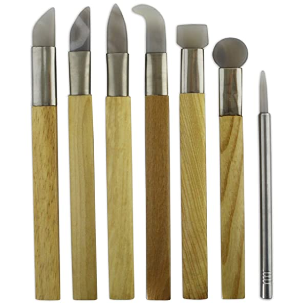 Set 7 Agate Burnisher Metal Silver Clay Jewellers PMC Art Clay Jewellers Tool . (Color: Silver)