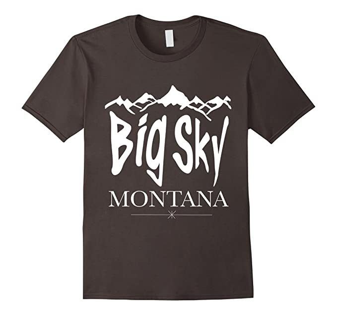 Big Sky Montana Snow Capped Mountains T-Shirt