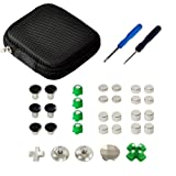 Mcbazel 31 in 1 Metal Magnetic Alloy Analog Custom Tuning ABXY Thumbstick Set with Tools for PS4 Dualshock 4 Controller