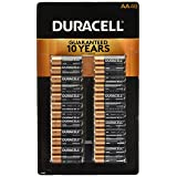 Duracell Coppertop Alkaline-Manganese Dioxide AA Battery, 1.5V, (Pack of 48) (Color: 48 Count)