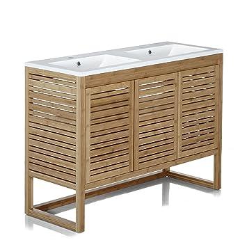 Danong sous bain 120cm salle vasque de Naturel Meuble de 35jL4AR