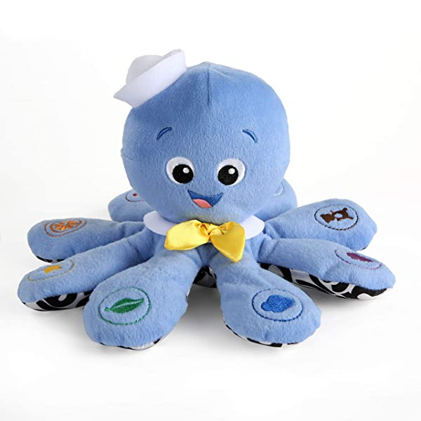 Baby Einstein Octoplush Plush Toy (Color: Blue, Tamaño: 11.0 x 7.0 x 11.0)