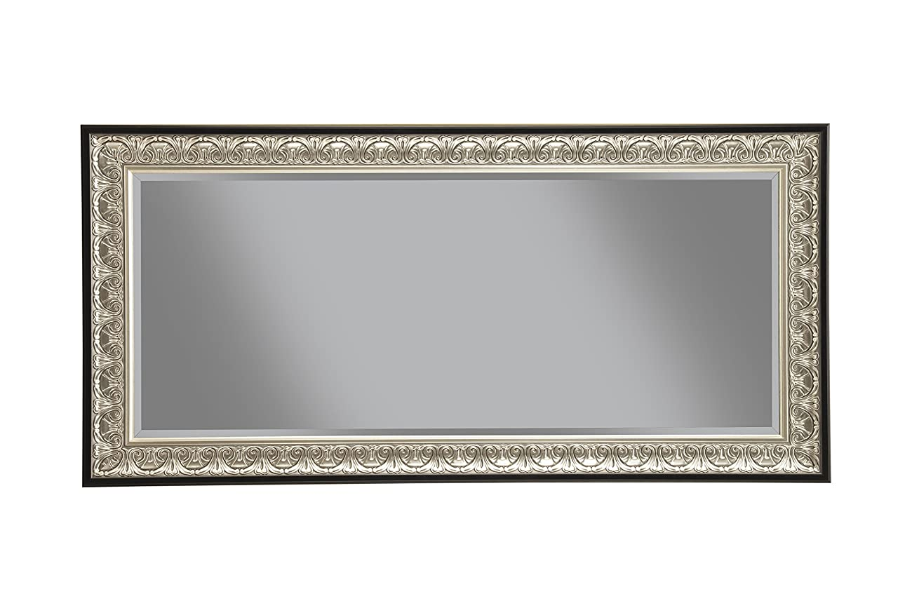 Sandberg Furniture 16011 Full Length Leaner Mirror Frame, Antique Silver/Black 1