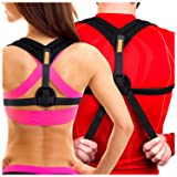 Tresalto Back Posture Corrector For Women & Men - Effective and Comfortable Orthopedic Primate Clavicle Shoulder Support Brace for Better Back to Stop Slouching & Hunchback - Discreet Design