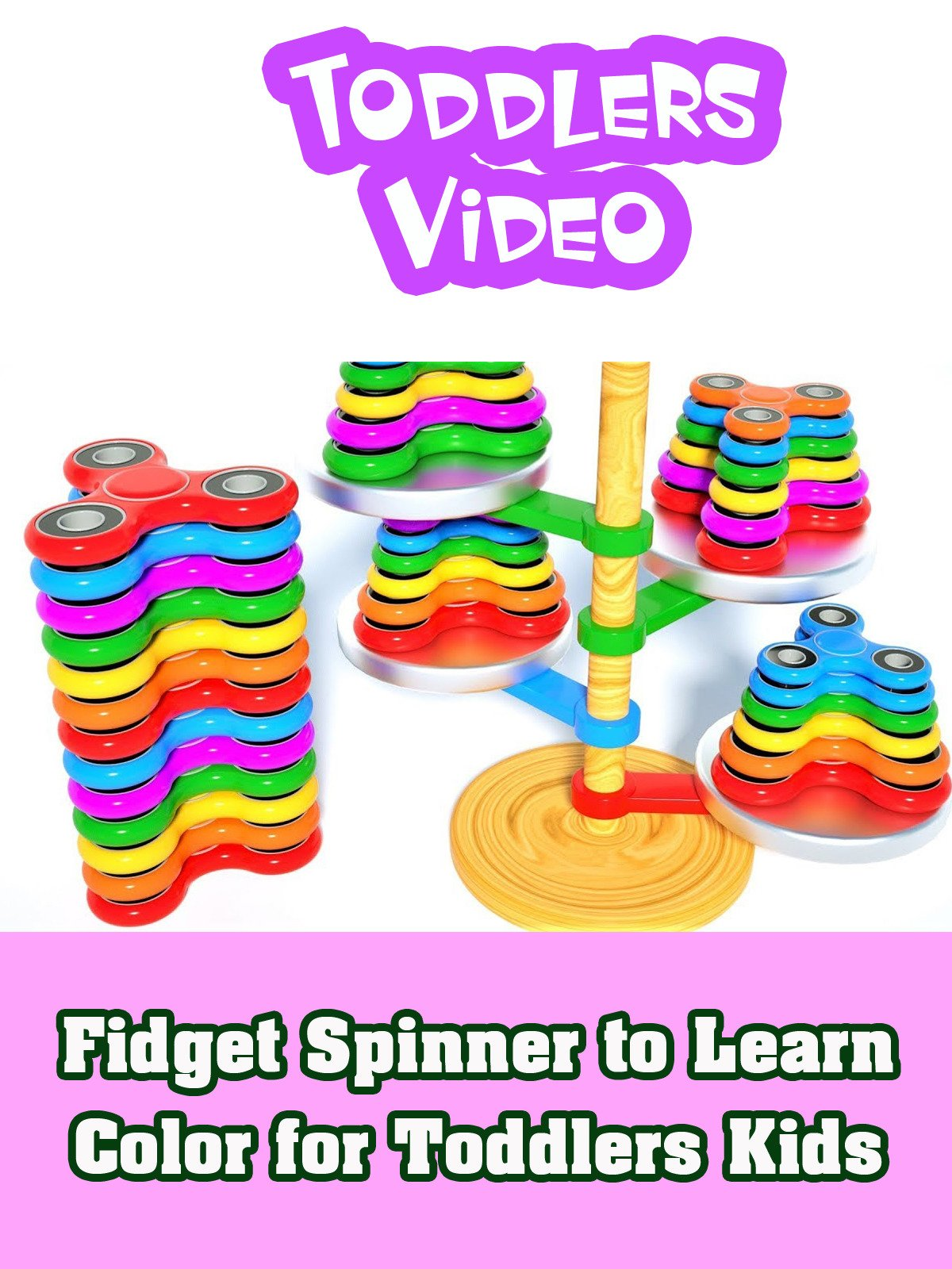 Fidget Spinner to Learn Color for Toddlers Kids