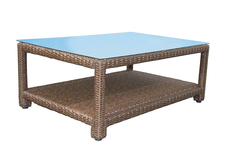 Lounge Tisch Ibiza 120x80cm mit Glasplatte günstig online kaufen