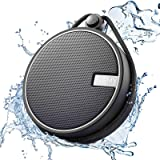 INSMY Portable Shower Bluetooth Speaker, IPX7 Waterproof Wireless Outdoor Speaker with HD Sound, Support TF Card, Suction Cup for Home, Pool, Beach, Boating, Hiking 12H Playtime (Color: Black)