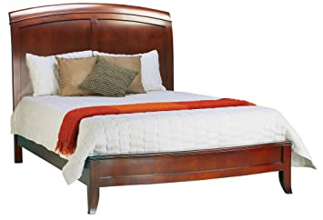 Modus Furniture Brighton King Size Low Profile Sleigh Bed, Cinnamon