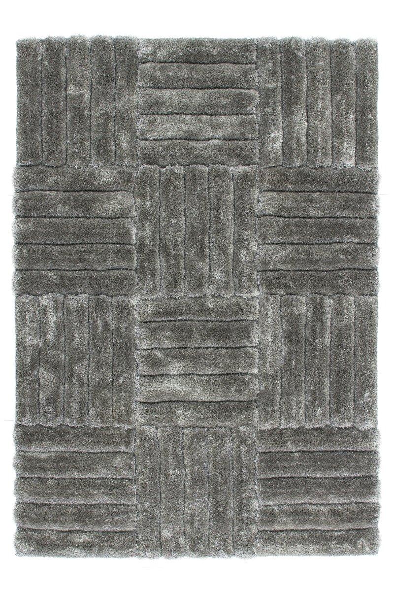 Lalee 347180981 Sehr Hochwertiger Hochflor Shaggy Teppich in 3D Optik mit modernem Design, 160 x 230 cm, silber  Rezension