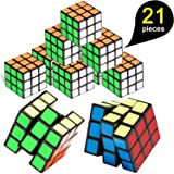 Mini Cube, 21 Pack Mini Cubes, Party Puzzle Toy, Magic Cube Eco-Friendly Material with Vivid Colors, Party Favor School Supplies Party Puzzle Game