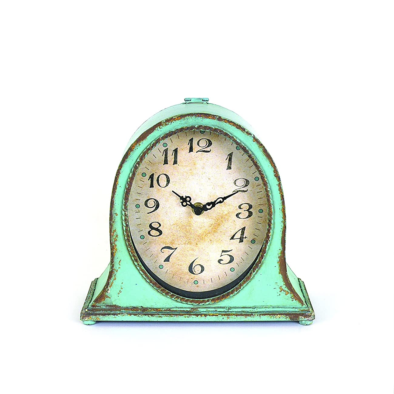 Creative Aqua Metal Table Clock 0