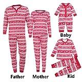 Iusun Men Women Boy Girl Kids Christmas Family Matching Pajamas Set Striped Long Sleeve Blouse + Pants (XL, Red1- Men) (Color: Red1- Men, Tamaño: X-Large)