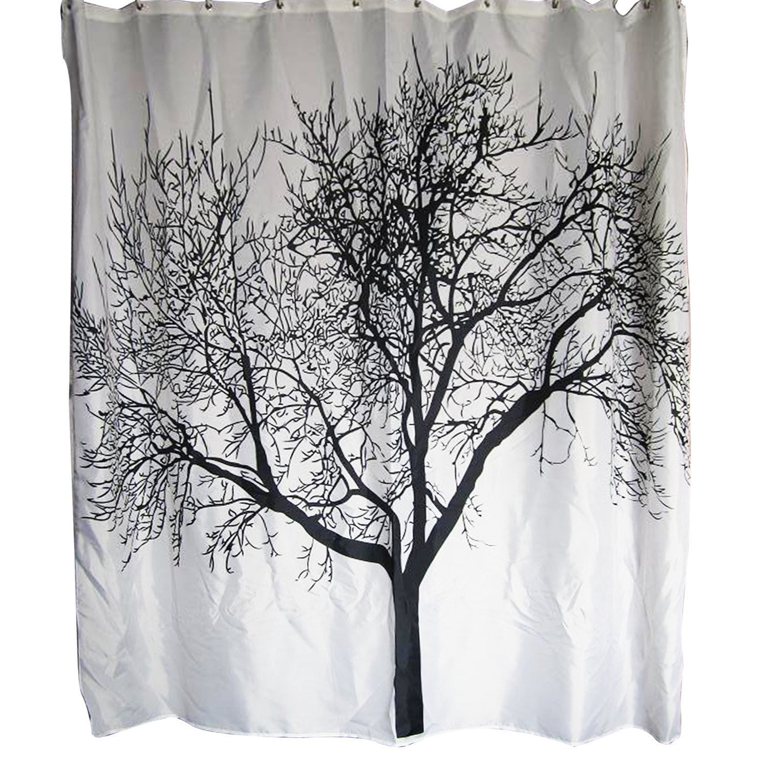 Dozenegg Waterproof Shower Curtain With Tree Design 180 cm X 180 cm