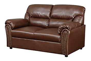 Glory Furniture G260-L Living Room Love Seat, Brown
