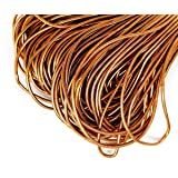 10g Bronze Gold Round Smooth Copper Hand Embroidery French Fine Metallic Wire, Goldwork Bullion, Luneville Tambour, Indian Gimp, Dabka Purl (Color: Bronze Gold, Tamaño: 1mm)