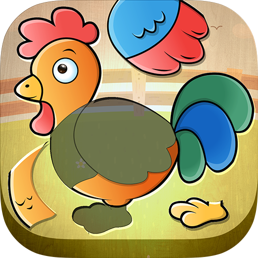 First Kids Puzzle - Teaching Preschool Toddlers About Farm Animals While They Have Fun Playing This Cute Game