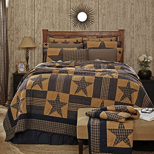 Teton Star Primitive Country Patchwork Queen Quilt 90 x 90 by Ashton & Willow VHC Brands