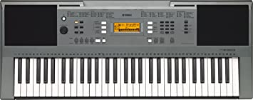 Yamaha PSR-E353, 61 Keys Portable Keyboard with Adaptor, Grey
