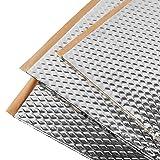 Noico 80 mil 36 sqft car Sound deadening mat, butyl automotive Sound Deadener, audio Noise Insulation and dampening (Color: Argent (silver), Tamaño: 36 sqft)