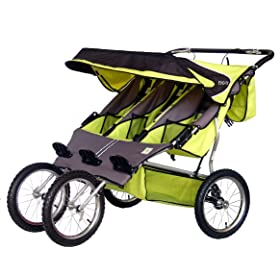 BeBeLove USA Green Triple Jogging Stroller