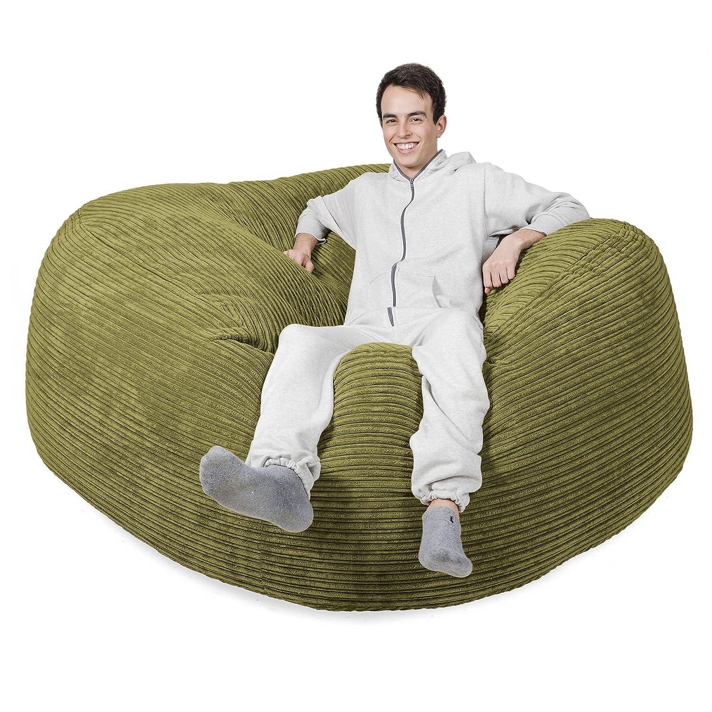 Mega-Mammoth Klassischer Cord Sitzsack Lime günstig bestellen