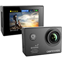 DBPower EX5000 14MP FHD Sports Action Camera with 2 Batteries and Free Accessories (Black)
