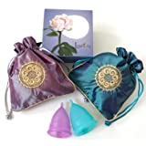 Luna Cup Menstrual Set of 2 Cups, 1 Large 1 Small Period Cup with 2 Carry Bags (Small & Large Set) (Tamaño: Small & Large Set)