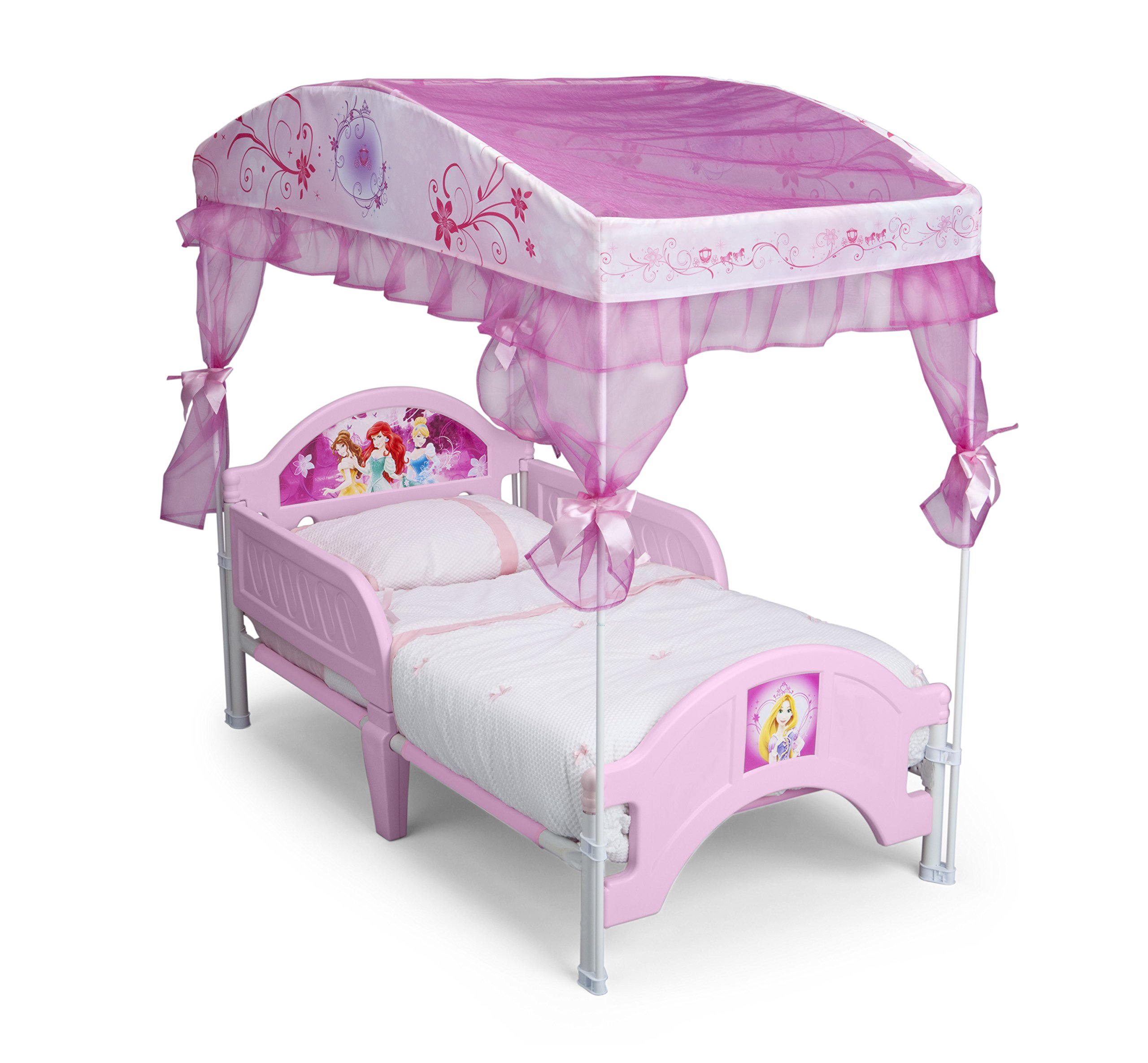 delta children canopy toddler bed disney princess princess. Black Bedroom Furniture Sets. Home Design Ideas
