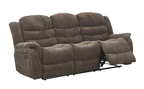 Global Furniture Reclining Sofa, Vegas Raisin