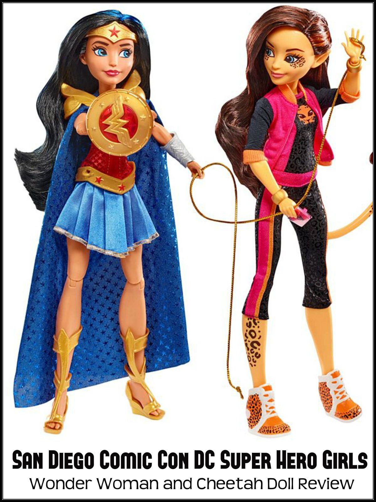 Review: San Diego Comic Con DC Super Hero Girls Wonder Woman and Cheetah Doll Review on Amazon Prime Video UK