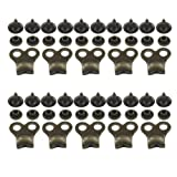 10 Gunmetal Boot Lace Hooks Lace Fittings with Rivets - Repair/Camp/Hike/Climb (Color: Gunmetal)
