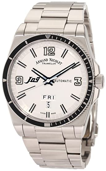 Armand Nicolet Men's 9660A-BC-M9650 J09 Casual Automatic Stainless-Steel Watch