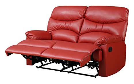 Glory Furniture G454-RL Reclining Loveseat, Red
