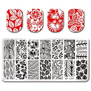 BORN PRETTY Nail Art Stamp Stamping Templates Stamper Scraper Kit- 4 Manicure Plates Set with 1 Polish Stamper by Salon Designs (Color: kit 1)
