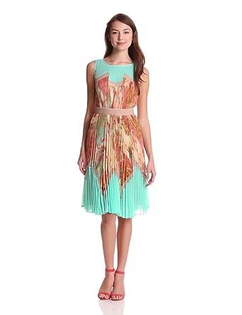 BCBGMAXAZRIA Women's Ksenia Woven City Dress, Powder, 2