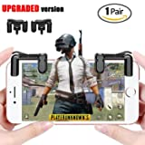 Batuzon PUBG Mobile Game controller, [UPGRADED version] Sensitive Shoot and Aim L1R1 Trigger Buttons for PUBG/Rules of Survival/Critical Ops,Mobile Game Joystick for Android IOS(1Pair