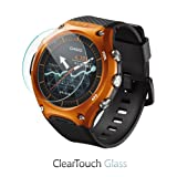 BoxWave Casio WSD-F10 Screen Protector, [ClearTouch Glass] 9H Tempered Glass Screen Protection for Casio WSD-F10 (Color: HD Glass)