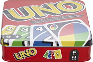Mattel Games: The Official Uno Tin [Amazon Exclusive] (Color: Multi Color)