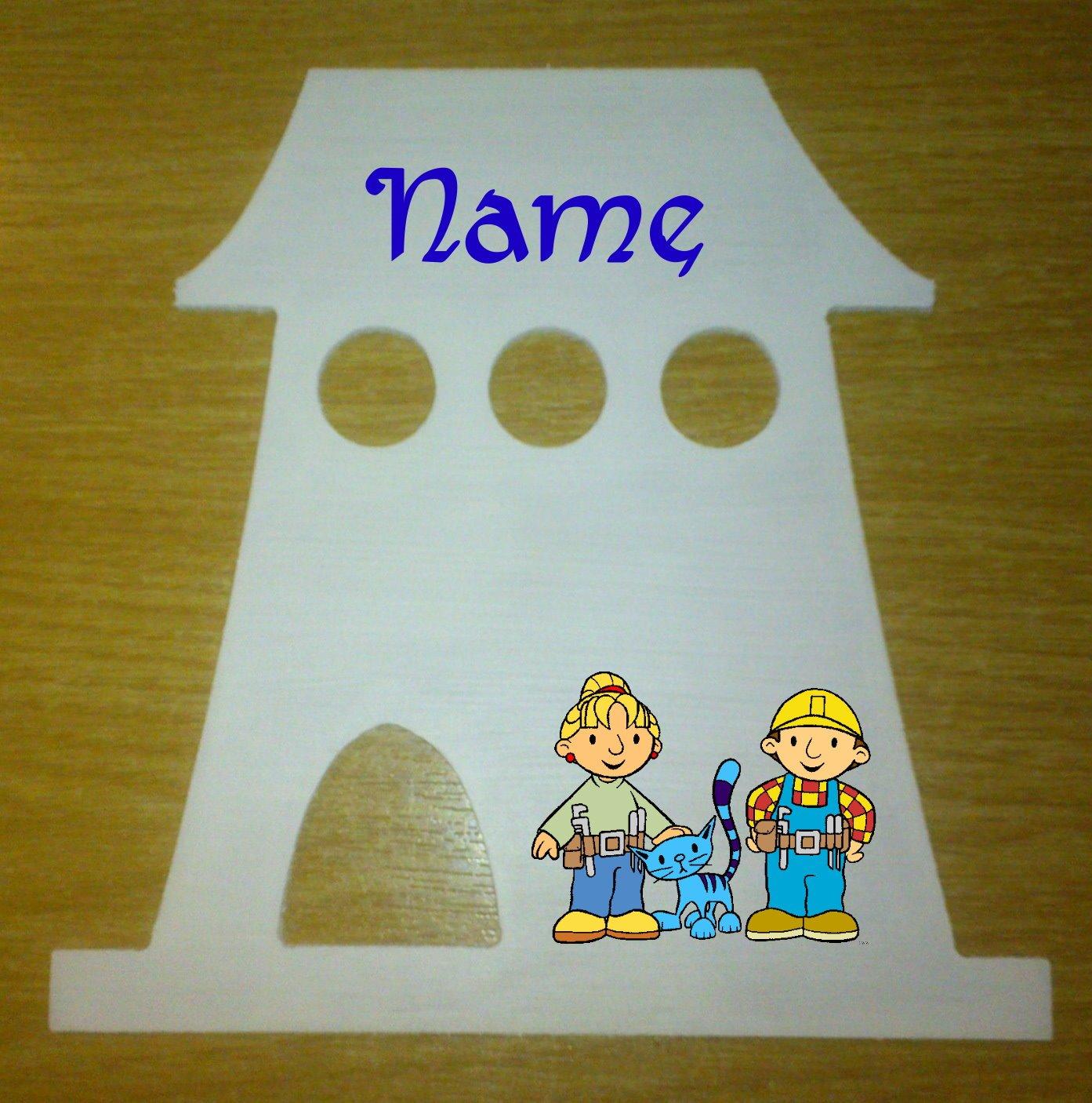 Bob der Baumeister Dekoschild Häuschen mit persönlichem Namen online bestellen