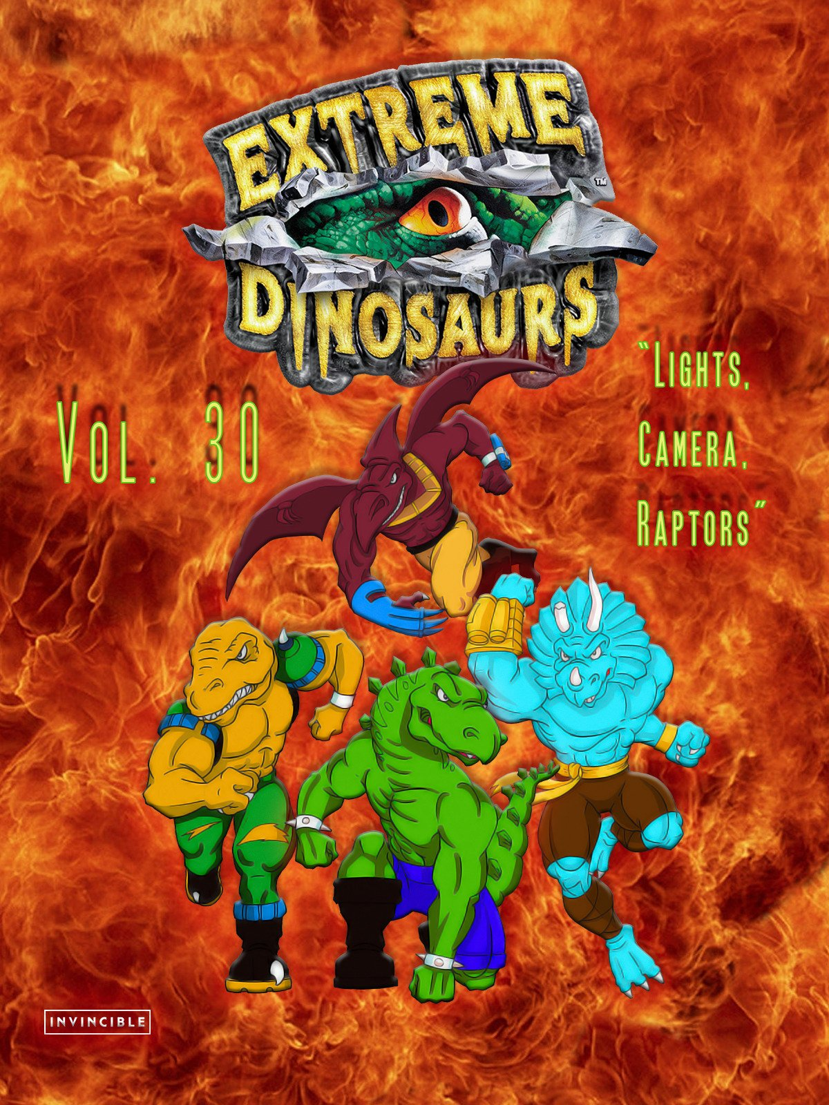 Extreme Dinosaurs Vol. 30Lights, Camera, Raptors
