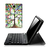 Fintie Keyboard Case for Samsung Galaxy Tab E 8.0, Slim Lightweight Stand Cover with Magnetically Detachable Bluetooth Keyboard for Galaxy Tab E 32GB SM-T378/Tab E 8.0 SM-T375/SM-T377, Love Tree (Color: ZA-Love Tree)