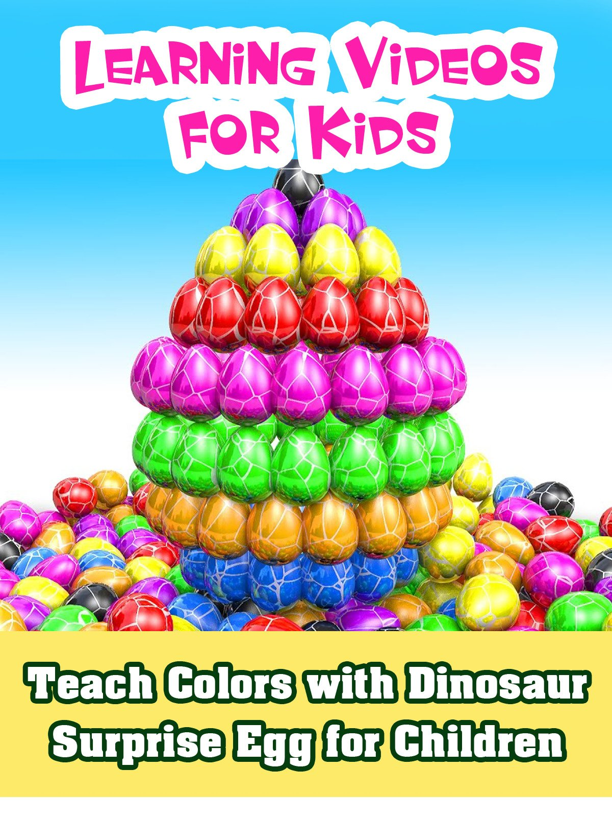 Teach Colors with Dinosaur Surprise Egg for Children