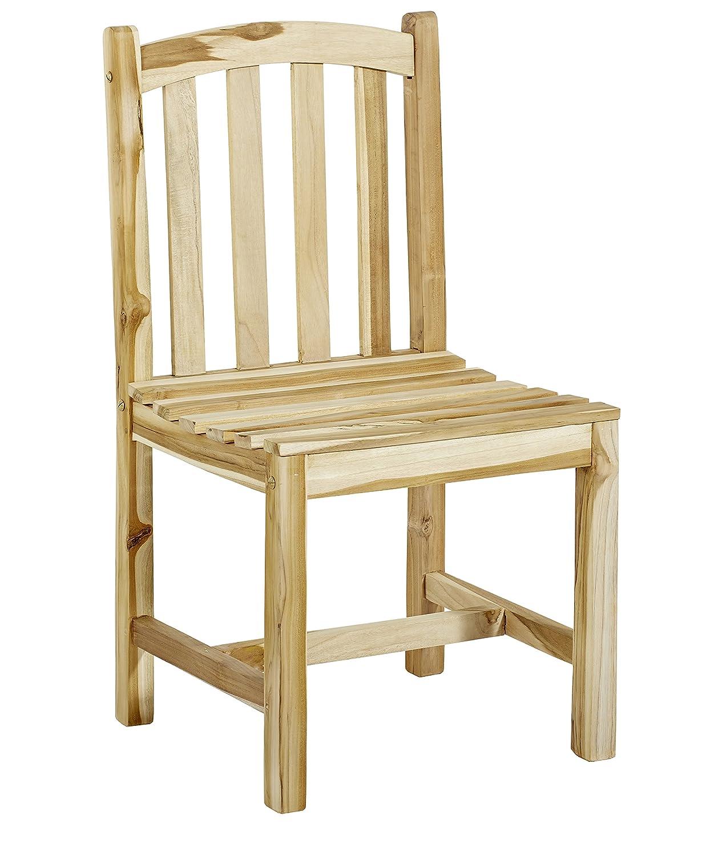 GARDENho.me Schwerer Teak Stuhl Oakland ohne Armlehne Gartenstuhl günstig online kaufen