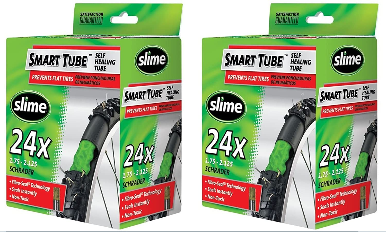 Slime Smart Tube Schrader Valve Bicycle Tube (24 X 1.75 to 2.125), 2 Pack шапка grenade max slime