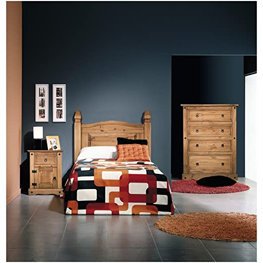 Headboard + Table + Sinfonier in Wood Rustic Style or Separately r-arizona
