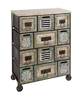 Cabinet in legno e metallo