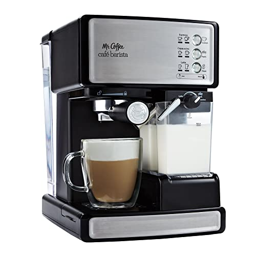 The Mr Coffee Cafe Barista Espresso Maker with Milk Frother, Model BVMC-ECMP1000