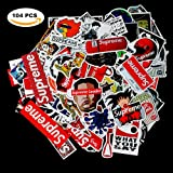 Sticker Decals - Supreme Laptop Vinyl Stickers car sticker For Snowboard Motorcycle Bicycle Phone Mac Computer DIY Keyboard Car Window Bumper Wall Luggage Decal Graffiti Patches (Color: 104Pcs supreme laptop sticker, Tamaño: 2.4-4.5inch)