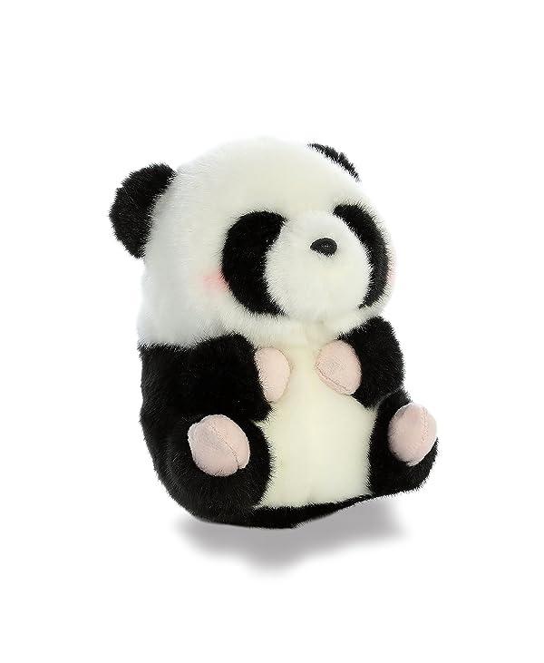 Aurora World Rolly Pet Precious Panda Plush (Color: Black, White, Tamaño: 5 inches)